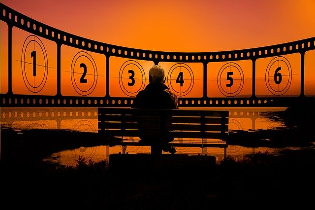 filmový pás s čísly