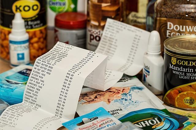účtenka u nákupu